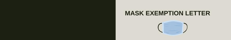 Mask Exemption Letter